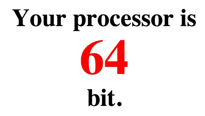 64 or 32 Bit?